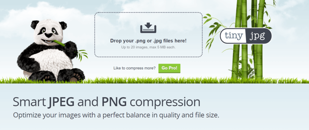 Tiny JPG Homepage